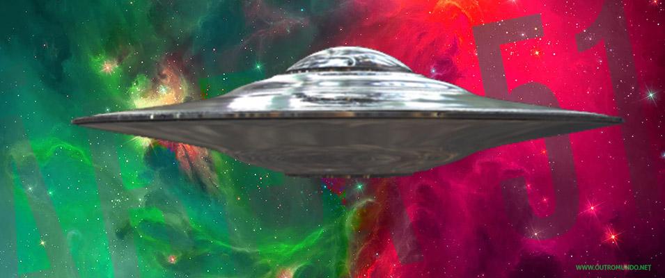 Área 51; Supostos alienígenas trabalhando em disco voador