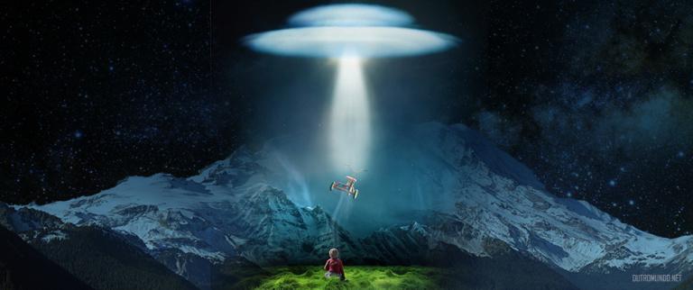 Criança perseguida por OVNI grava vídeo do objeto