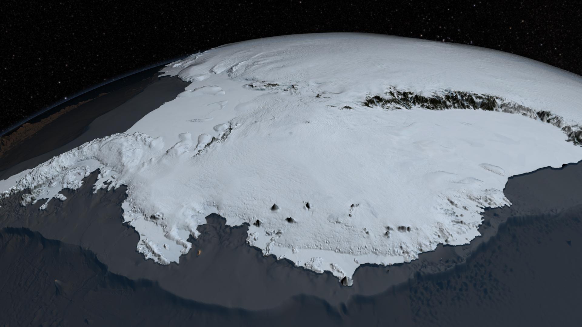 NASA mostra mapa da Antártida sem gelo