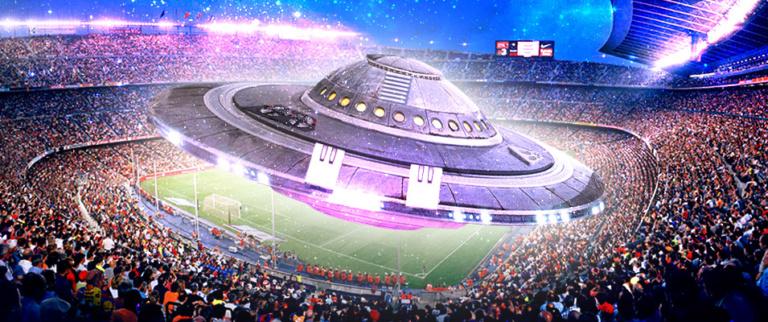 OVNI entra em estádio de futebol e partida chega a ser interrompida no ano de 1982