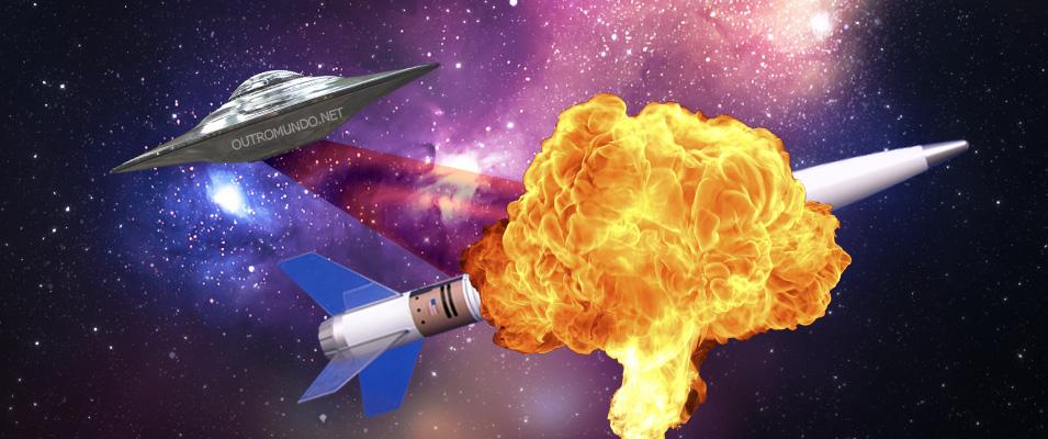 OVNI teria causado explosão de foguete SpaceX