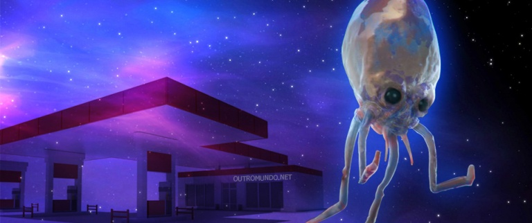 Suposto alien filmado próximo a posto de combustível no Perú em setembro de 2016