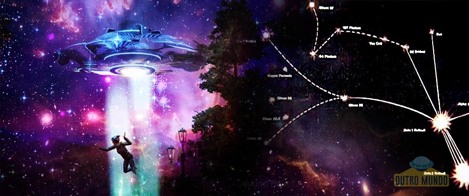 A mulher abduzida que desenhou mapa estelar de civilização alienígena antes de ser descoberto
