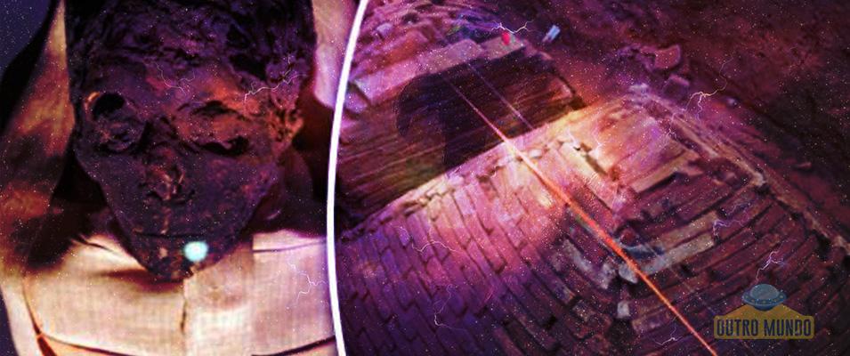 Pequena pirâmide e túmulo cilíndrico encontrados na China