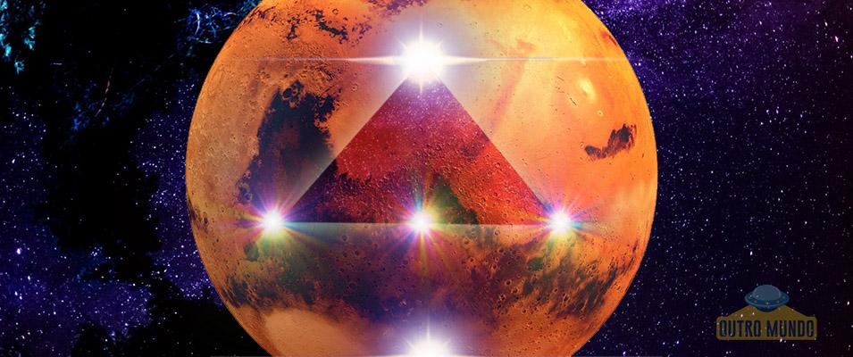 Alinhamento geológico na superfície de Marte; Forte indício antiga civilização ou grande coincidência?