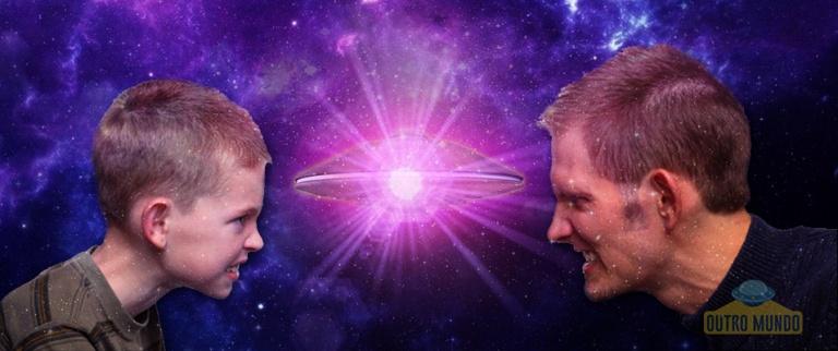 Pai e filho filmam OVNI luminoso na Austrália