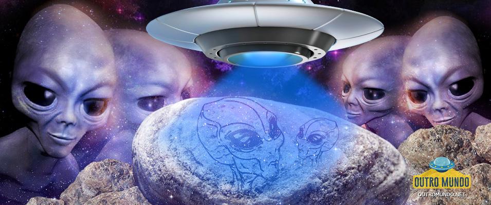 Pedras com gravuras de Aliens e OVNIs, descobertas em caverna no México, reforçam a teoria de um contato extraterrestre no passado
