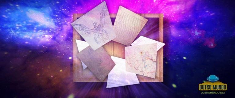 Homem encontra uma caixa misteriosa com esboços de OVNIs e entidades celestiais