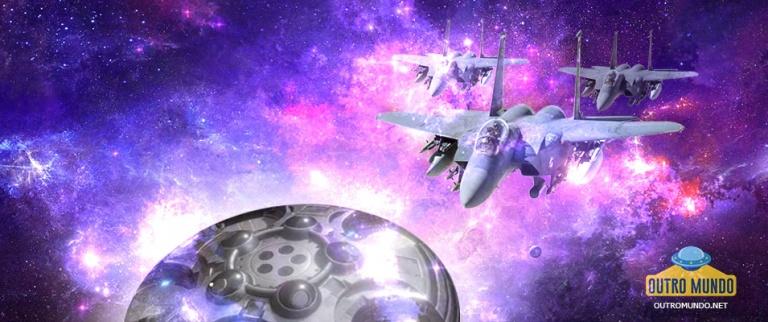 OVNI branco cruza o céu norte-americano e caças F-15 foram acionados