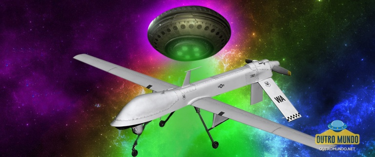 Drone militar grava imagens de OVNI que emite feixe de luz em sua direção
