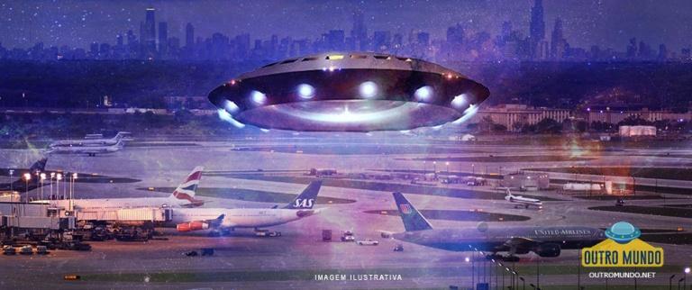 O disco voador que parou o Portão C-17 do Aeroporto Internacional de Chicago